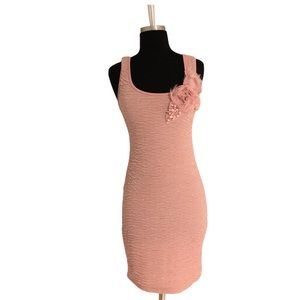 Mitto To The World Pink Dress Bodycon Dress